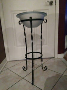 Wrought Iron Planter/Candle Holder