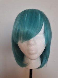 Synthetic Hair Turquoise Wig
