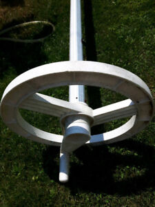 SOLAR pool banket on reel  +  ladders