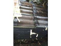 Approx. 200 Redland Regent roof tiles slates in good used condition shed porch garage car port etc