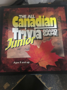 The All Canadian Junior Trivia Board Game