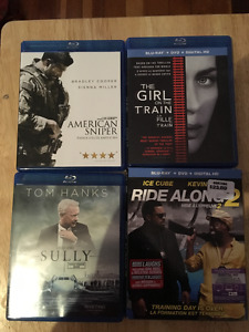SELLING PACK OF 4 BLU-RAY/DVD DUOS! NEW MOVIES!