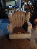 Vintage wing back chair