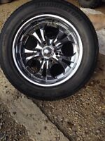 """18"""" 6 bolt GMC rims and tires"""