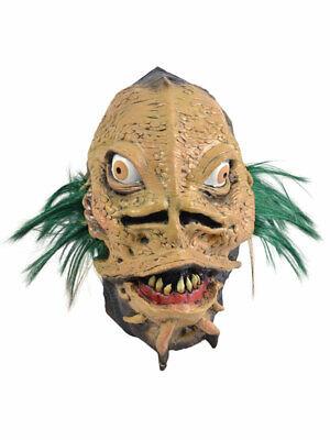 Halloween Horror Reptile Fish Man Scary Monster Latex Full Mask Fancy Dress - Scary Monster Kostüm