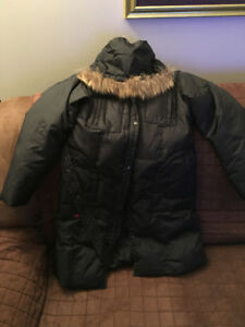 Winter long black coat size small