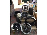 Bbs type staggered alloys & tyres for bmw/others