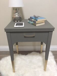 Gold Dip-Dyed End Table