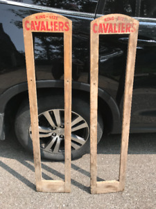 OLD 2 X KING SIZE CAVALIERS TOBACCO WOOD FRAMES FOR ADVERTISING