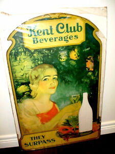 1940s-50s Weiller Philadelphia RARE advertising easel KENT CLUB Cambridge Kitchener Area image 1