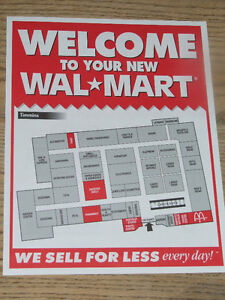 Flyer given out during grand opening of new Timmins Wal-Mart