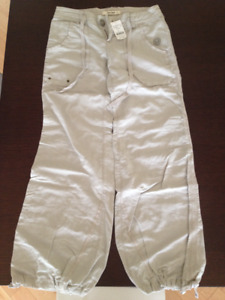 Free People linen tie waist pant, size 0, new with tags, $70