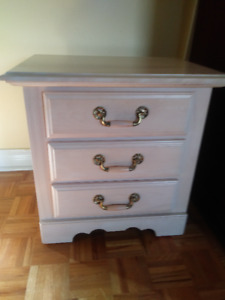 Pickle pine 3 drawer night table