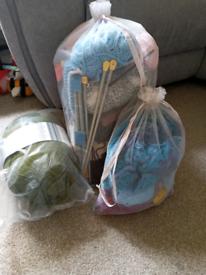 Wool/crochet/knitting items