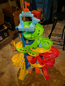 3 Fisher Price stand and play car ramps/airport