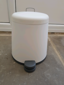 IKEA 'Snapp' White Plastic Pedal Bin