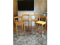 4 JOHN LEWIS MID HIGH BAR CHAIRS