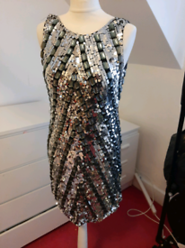 Stunning silver and grey dress