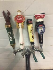 4 Spout Draft Beer Tower - Keith's, Stella, Mill St Tap Handles