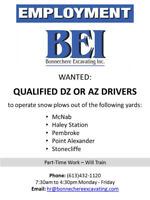 Looking for: Qualified DZ or AZ Drivers
