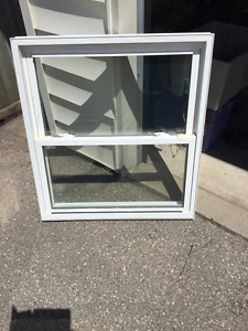 Double hung PVC window used