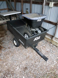 Blue hawk towable lawn seeder & Wagon