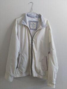 Tommy Bahama white/tan fall/spring jacket XL