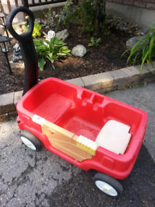 Child's two seat red wagon.  $45.00