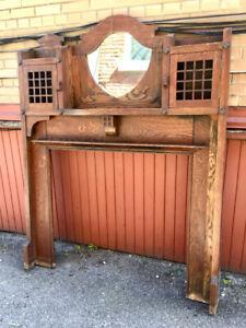 Antique Oak Mantle