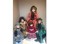 6 Porcelain antique dolls