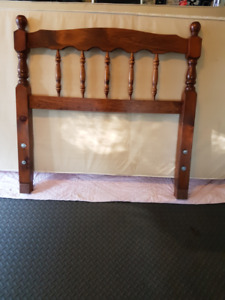 Single bed size, headboard, frame, mattress and Box spring