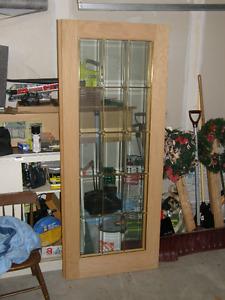 2 Oak Glass Doors