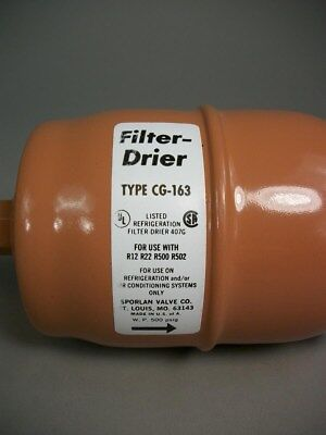 Sporlan Valve Co. Filter Drier Cg-163 For Refrigeration -new Old Stock