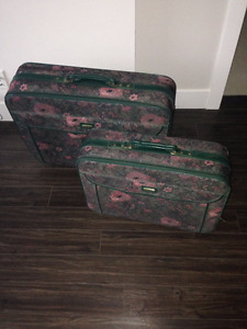 Carry-on - Green with pink flowers - Langley