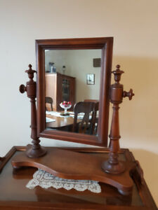 antique dresser top mirror