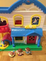 Fisher price little people set house maison