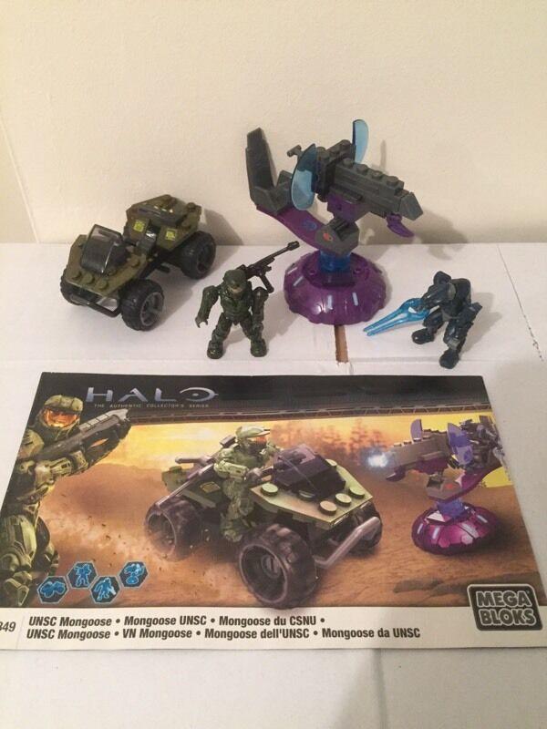 Halo Mega Bloks Mini Figure Set Lego Star Wars 96849 Unsc Mongoose