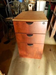 AN UNDER THE DESK FILING CABINET