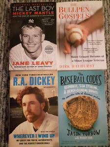 Lot of 4 Baseball Books Paperback