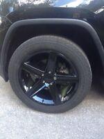 "19"" Black Rims and All Season Tires"