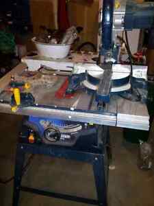 Mastercraft table saw and compound sliding miter saw