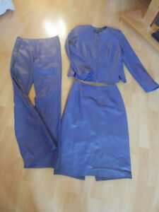Leather Suit - DANIER 3 pce ladies Petite size 4