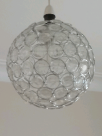 Crystal globe lampshade X2