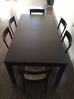 IKEA Bjursta Table and 6 Roger Chairs