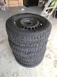 205/55R16 HANCOOK WINTER I PIKE TIRES AND RIMS