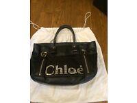 Large Chloe tote in black