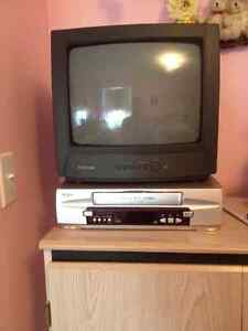 $25 for Toshiba TV, $25 for Sanyo VCR + movies