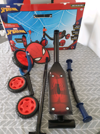 spider man scooter parts