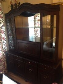 Solid large dark solid wood sideboard offers ono