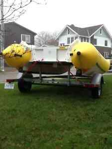 18' INFLATABLE BOAT AND TRAILER London Ontario image 5